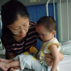 Zhong Mei and child